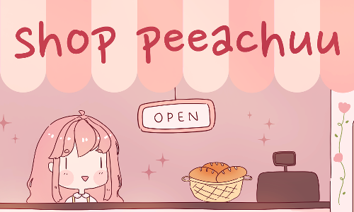 shop peeachuu banner